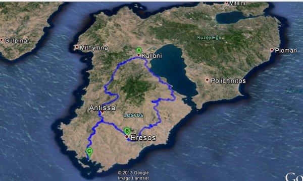 kalkış Kalloni, Yunanistan varış Kalloni, Yunanistan - Google Haritalar - Google Chrome 15.07.2013 003250