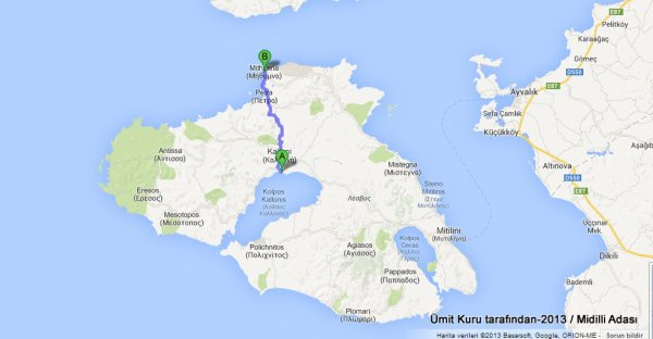 kalkış Skala Kallonis, Yunanistan varış Mithymna, Yunanistan - Google Haritalar - Google Chrome 17.07.2013 235957