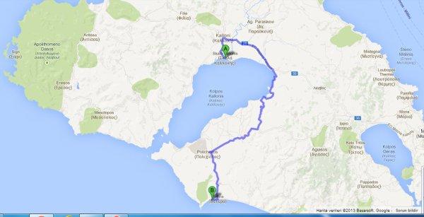 kalkış Skala Kallonis, Yunanistan varış Vatera Beach - Google Haritalar - Google Chrome 16.07.2013 220819