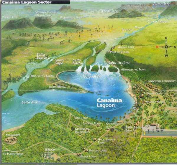 Laguna_Canaima_map