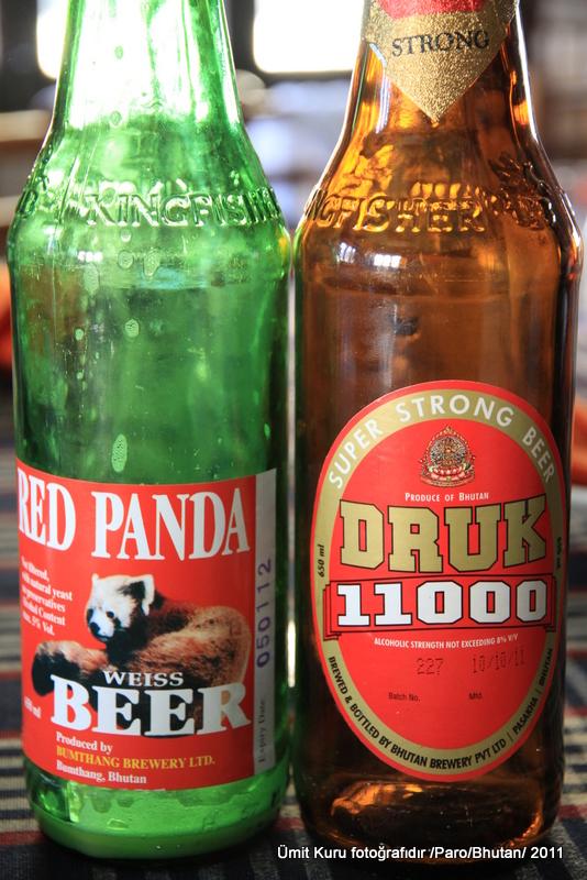 Bhutan lokal biralarından örnekler