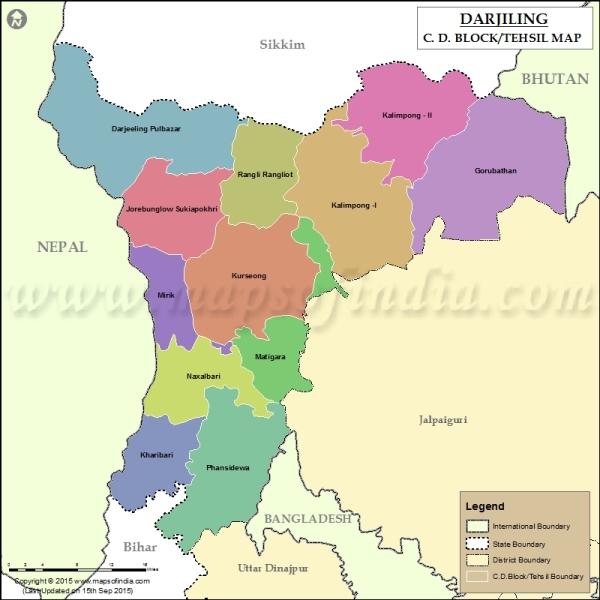 darjiling-tehsil-map